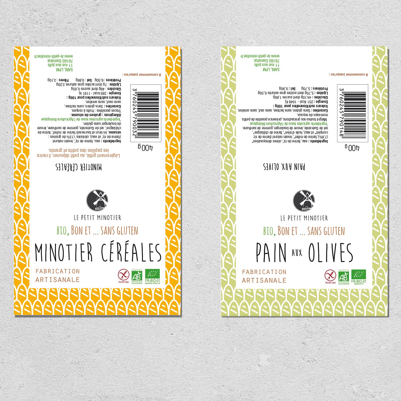 design packaging pains le petit minotier