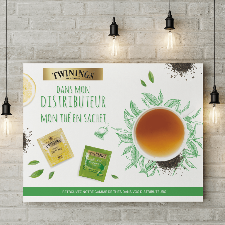 Affiche Twinings stations Carrefour