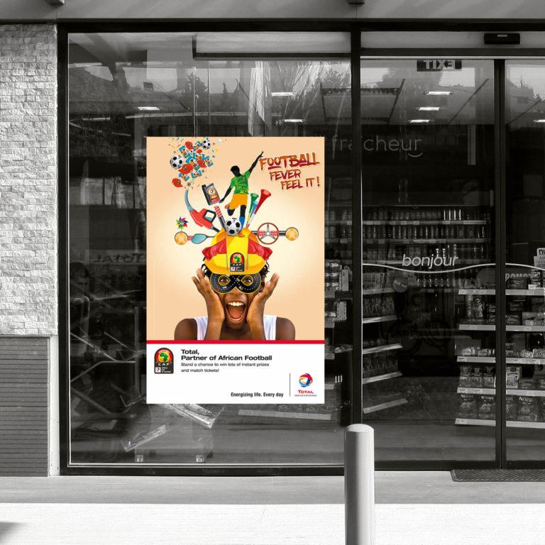 Affiche entrée de boutique stations TOTAL