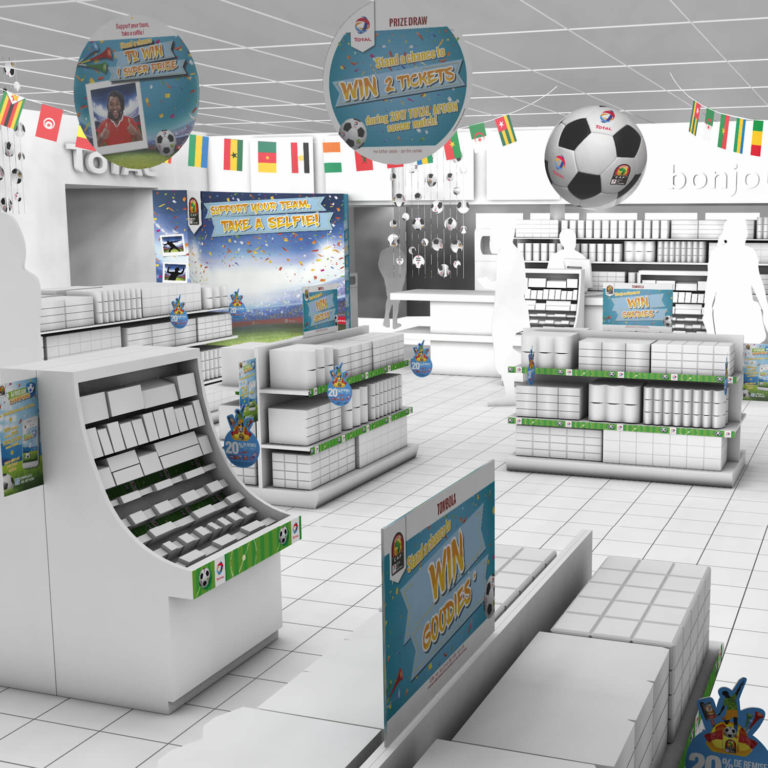 Habillage boutiques stations TOTAL