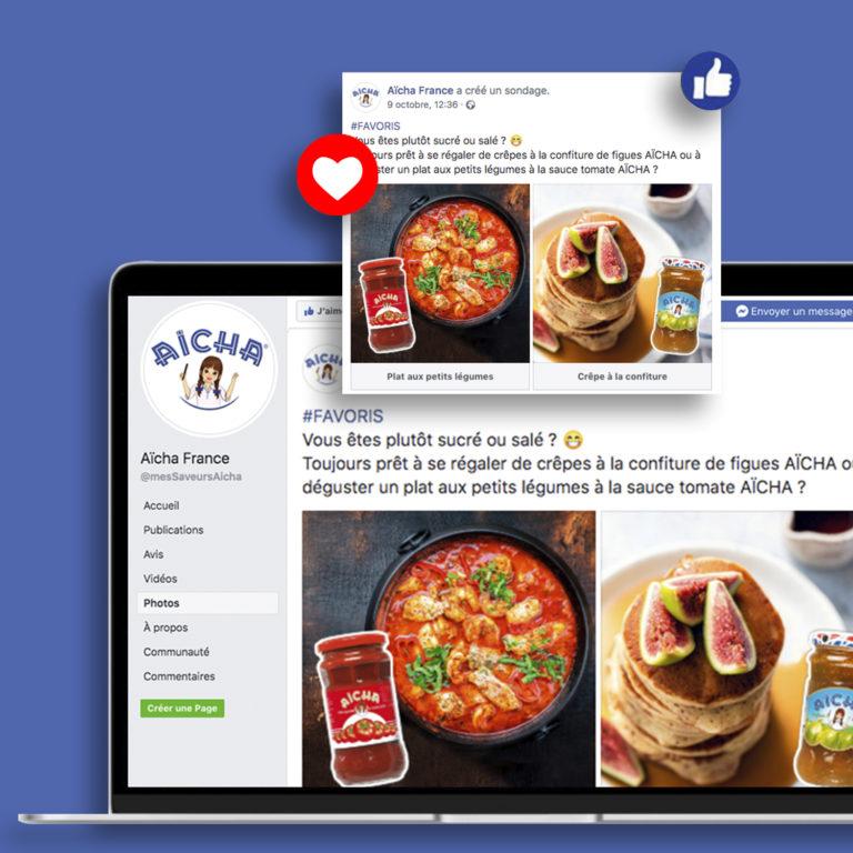 Visuels sondage Facebook Aïcha France