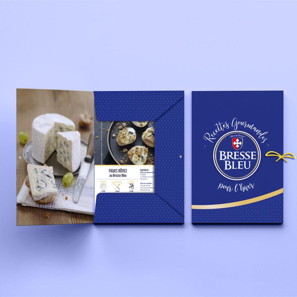 Pochette fiches recettes communiqué de presse Bresse Bleu