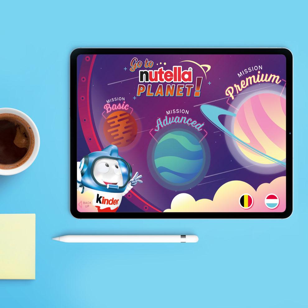 Argumentaire digital Nutella sur tablette
