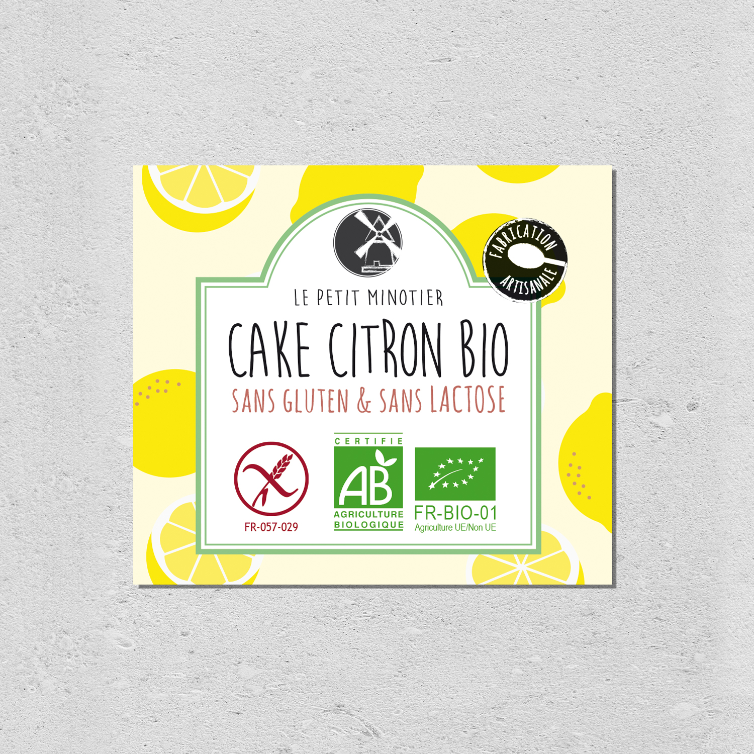 design packaging cake citron bio le petit minotier